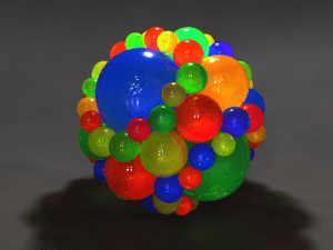 Inversion Spheres Caustics Render1