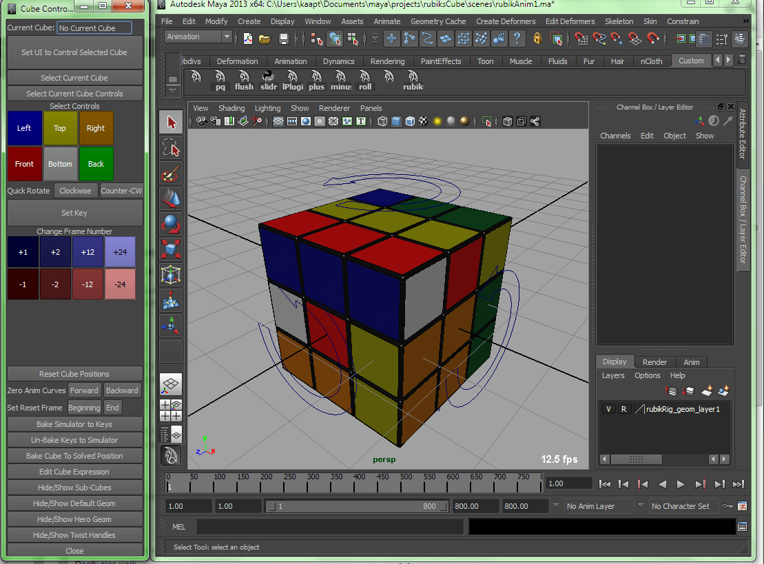 Coming Soon – Rubik's Cube Rig for Maya