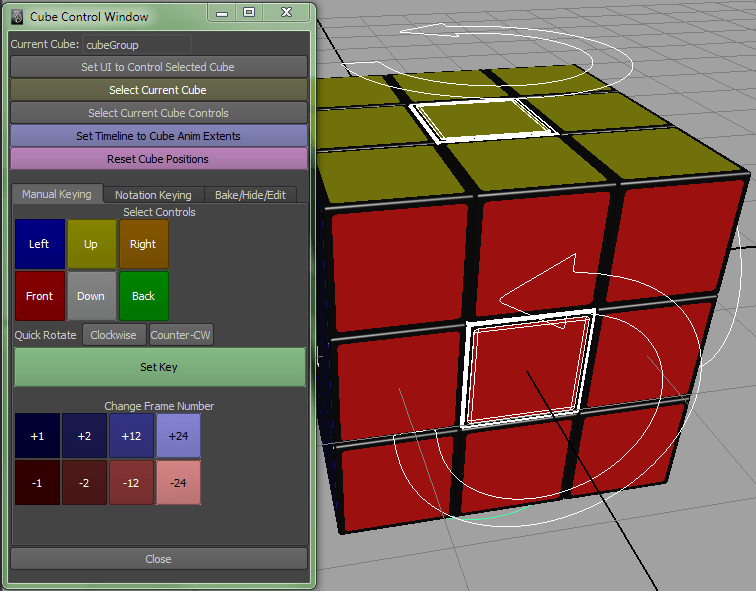 Rubik's Cube Rig for Maya