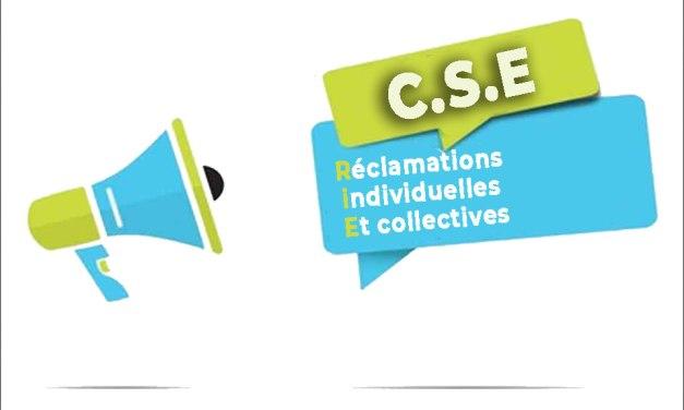 Réclamation Individuelle et Collective du SNECA du mois d'avril 2021