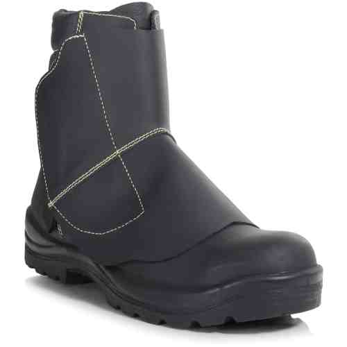 PB26-BLK - Mid Leg Foundry Boot - Right Angle (Square)