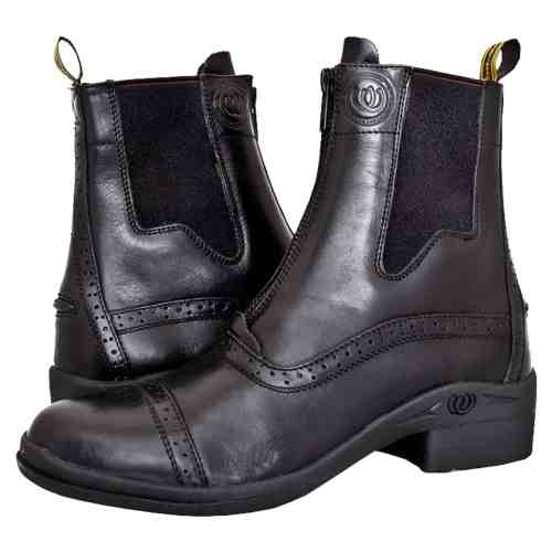 HW90300-BLK - Paddock Zip Boot - Pair Crossing (Square) 3