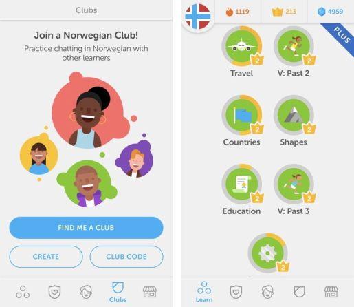 Duolingo LOGO+介面