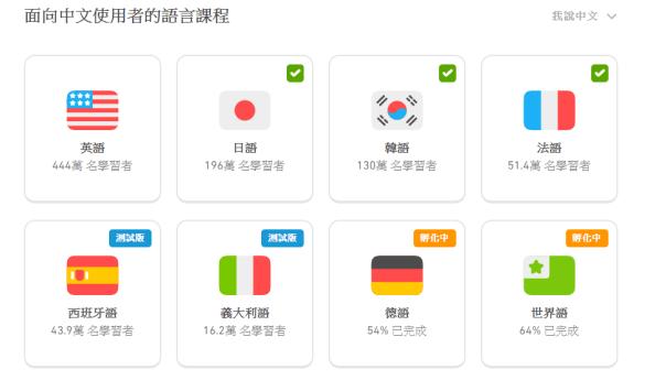 給中文使用者的課程