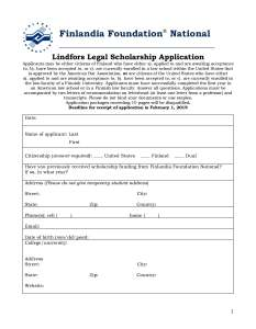 2019 Lindfors Scholarship Application Postmark Deadline For Applications Is February 1 Click Here A PDF Of The