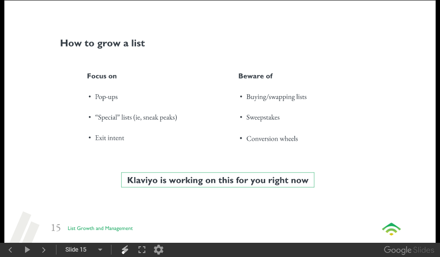 Email list growth Do's and Don'ts