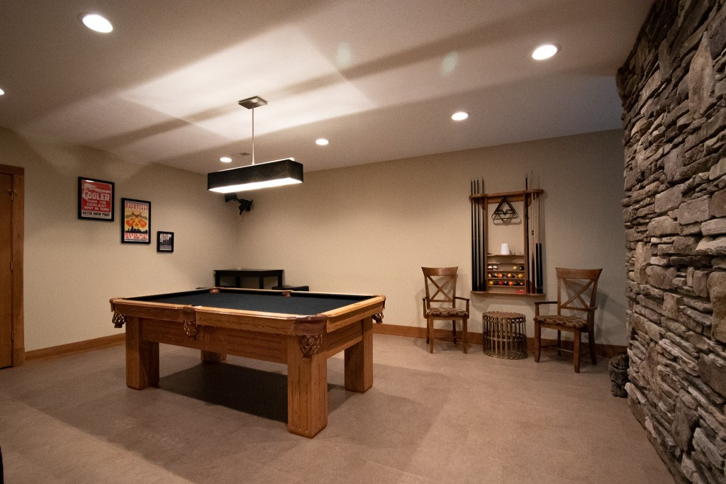Finished Basement Recreation Area