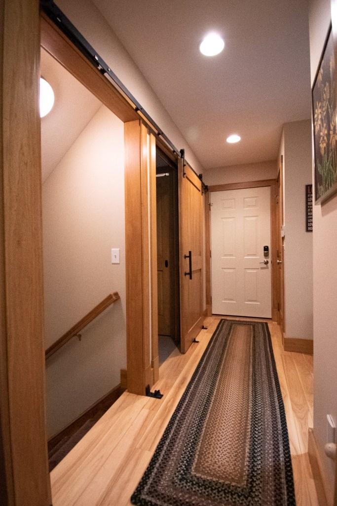 Half Bath with Laundry Room Barn Door