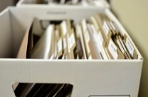 Office box full of files for organization school work legal