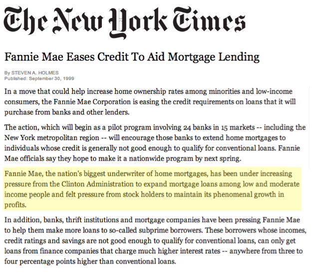 fannie mae subprime mortgage crisis Another conservative myth busted -- did fannie and  of the subprime mortgages in 2006 were  fannie and freddie really cause the financial.