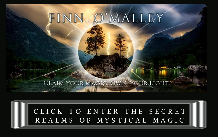 Finn OMalley dark and light graphic with lightning and mountains