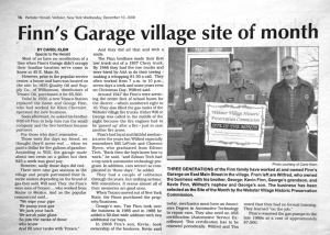 Article about Wilfred, Kevin, and Tim Finn in The Webster Herald, 2008