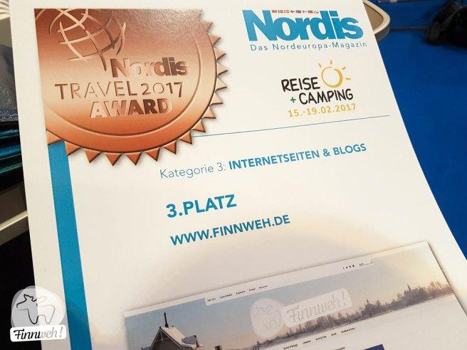 So feiert man den NORDIS Travel Award,... mit Urkündchen! ;)