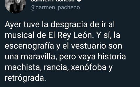 Sí, el Rey León también es machismo