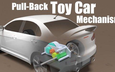 ¿Cómo funcionan los coches de juguete que se mueven después de empujarlos hacia atrás?
