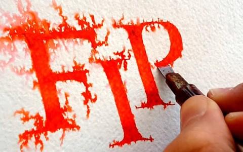 Escribiendo FIRE con una técnica que se propaga como las llamas
