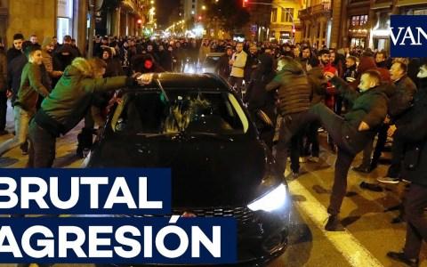 Penoso ataque a un VTC en Barcelona
