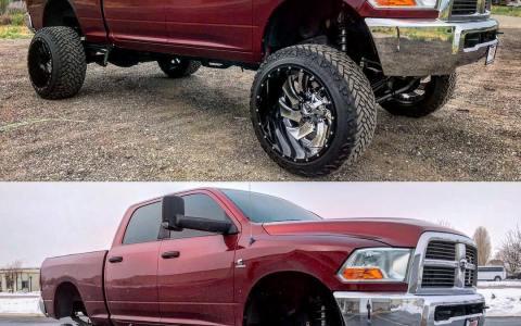 Hay algo más ridículo que ponerle unas ruedas gigantes a tu camioneta elevada