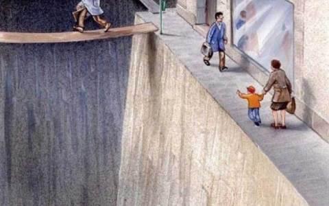 Una forma brillante de demostrar hasta qué punto los coches han invadido nuestras ciudades. Ilustración de Karl Jilg