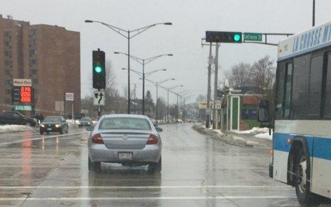 A Buick La Crosse, crossing La Crosse St. in La Crosse, Wisconsin.