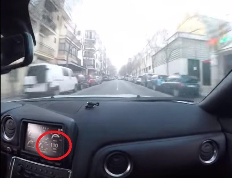 """Paseo por ciudad con Matías el Humilde a """"velocidades legales"""" en su GTR"""