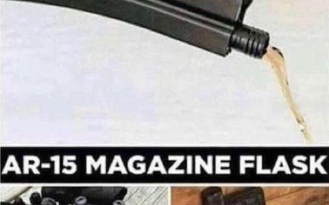 La mejor forma de meter alcohol en el colegio si vives en EE.UU.: dentro del cargador de una AR-15 :D
