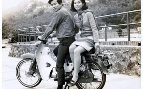 La misma pareja, la misma moto