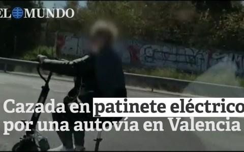 Cazan a una mujer en patinete eléctrico por una autovía de cinco carriles en Valencia