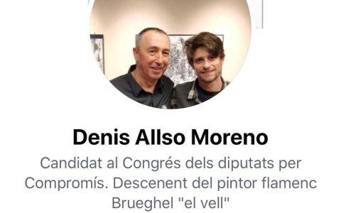 Un candidato de Compromís al Congreso, dando su apoyo a la presunta asesina de Valencia