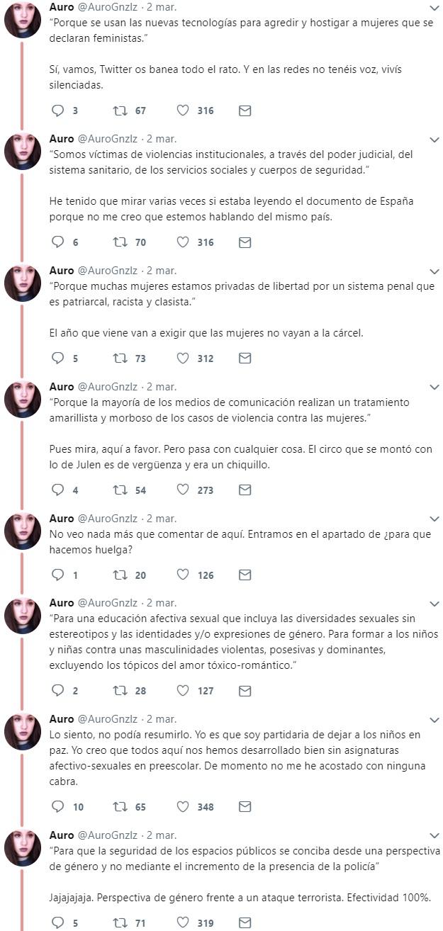 """¿Alguien se ha leído el manifiesto de la huelga """"feminista"""" del 8M?"""