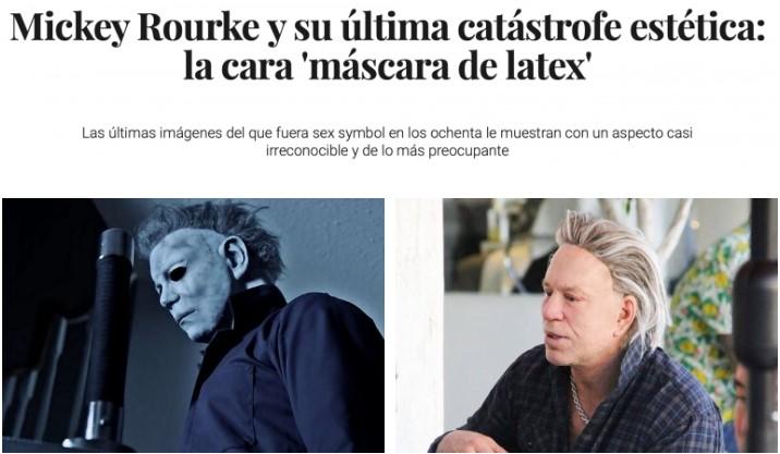 Mickey Rourke ha completado su transformación en moñeco