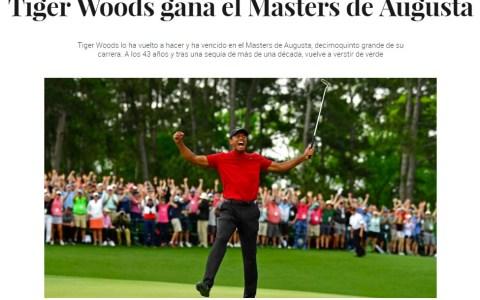 """""""Tiger Woods nunca volverá aganar un Grand Slam"""""""