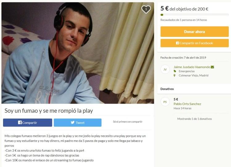 """""""Soy un fumao y se me rompió la Play""""."""