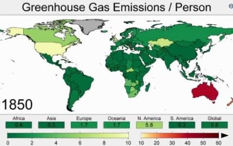 Emisiones de gases invernadero desde 1850 hasta hoy.