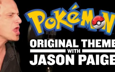 Jason Paige, el cantante de la intro de Pokémon en inglés, dándolo todo en el estudio de grabación