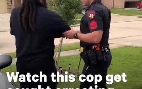 Un hombre se resiste a ser detenido y... lo consigue.