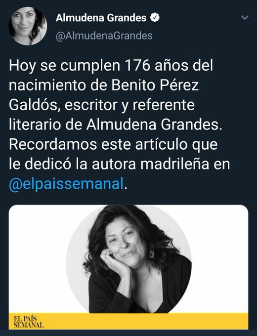 Almudena Grandes, by Almudena Grandes.