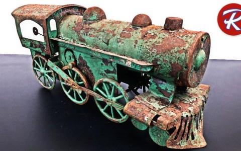 Restaurando un tren de juguete de 1920