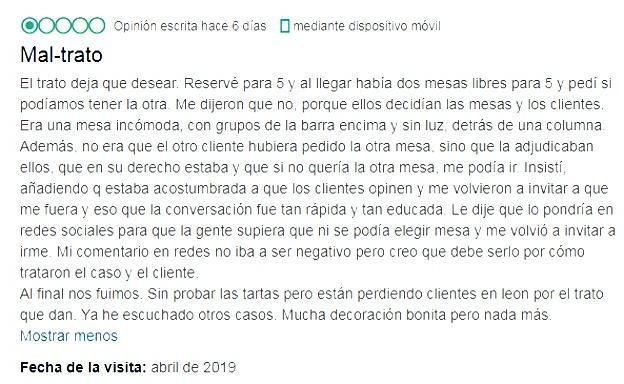 Un 'cuento Disney' para responder a una clienta en TripAdvisor en León