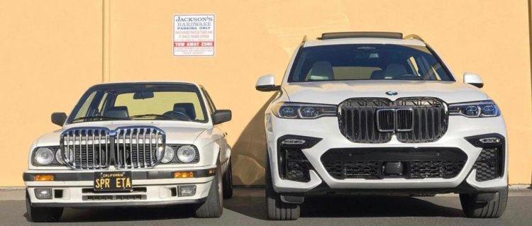 La parrilla de un BMW de los 80 vs la de un BMW actual