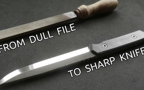 Creando un cuchillo a partir de una lima viejuna