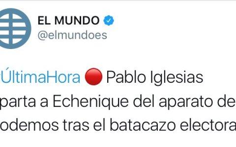 Pablo Iglesias aparta a Echenique del aparato
