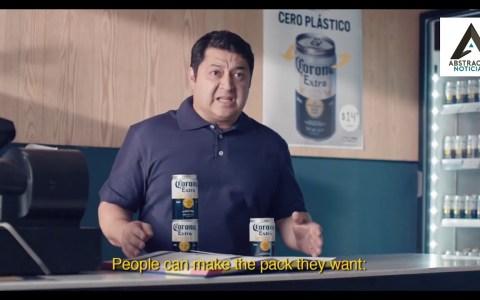 La marca Corona (Coronita en España) ha creado un ingenioso sistema para reducir la dependencia del plástico