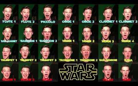 Sustituyendo con voz cada instrumento del theme principal de Star Wars