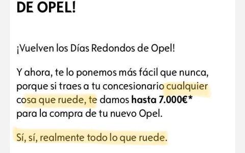 Si llevas a Echenique a la Opel te dan 7.000 € para la compra de tu nuevo Opel. No me parece mal negocio.