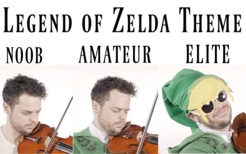 4 niveles a la hora de tocar con violín la intro de Zelda