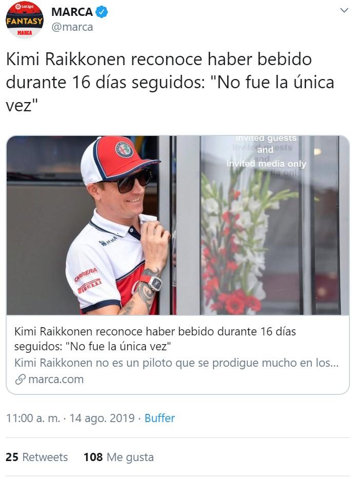 Kimi Raikkonen es un loquillo