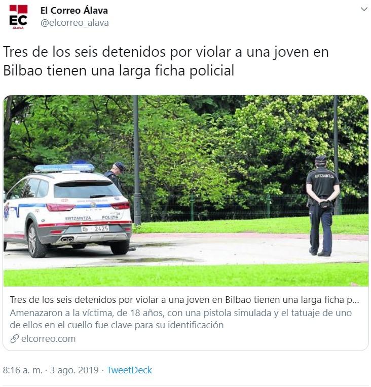 """3 miembros de la """"manada de Bilbao"""" dan su versión de los hechos"""
