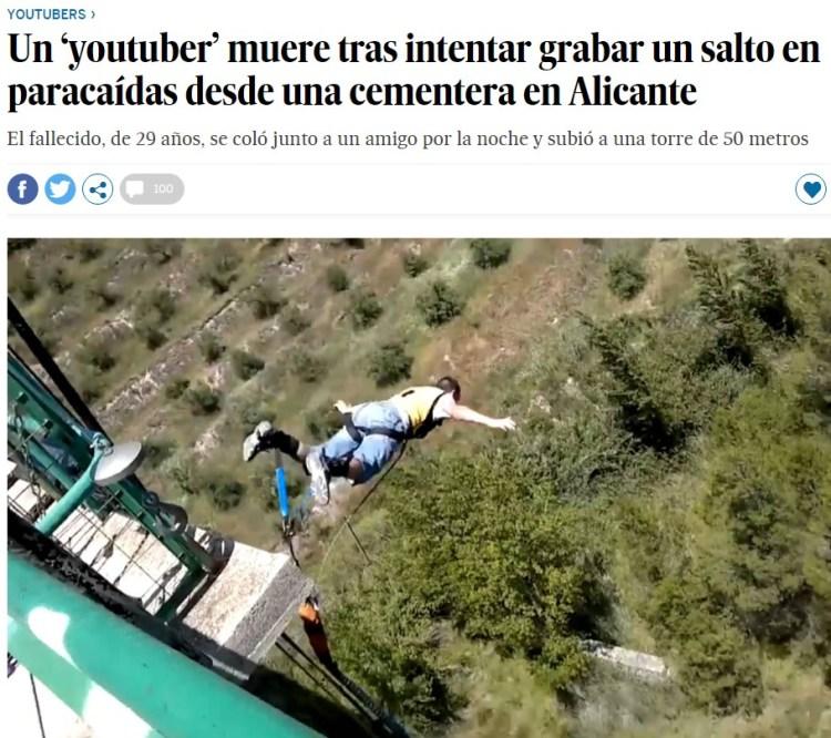 Me tiro en paracaídas desde una cementera (sale mal)