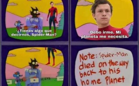 Los Simpsons ya predijeron el final de Spiderman